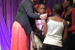 Board member Michelle Freyre ministering in Uganda